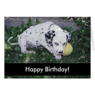 Perritos del feliz cumpleaños felicitación