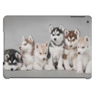 Perritos del husky siberiano carcasa para iPad air