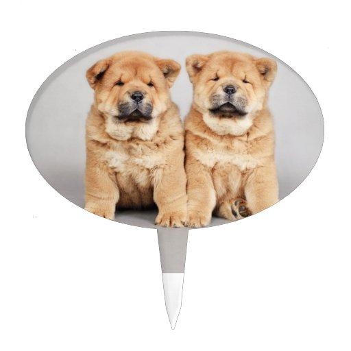 Perritos del perro chino de perro chino decoración de tarta