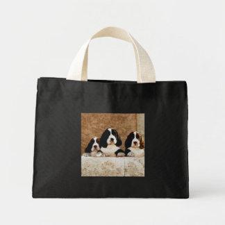 Perritos del perro de aguas de saltador inglés bolsa de tela pequeña