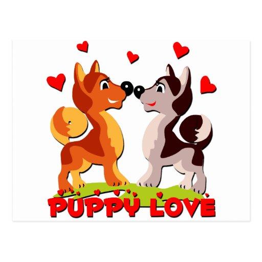 Perritos en amor tarjetas postales