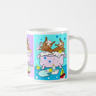 Perritos en la taza 1 de la bañera