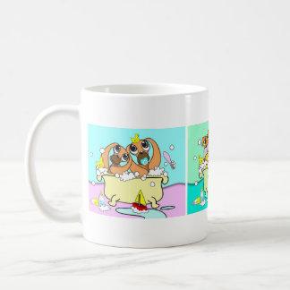 Perritos en la taza 3 de la bañera