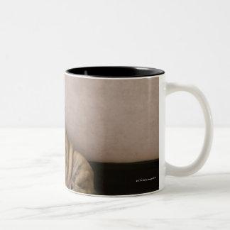 Perritos ingleses del dogo taza de café de dos colores