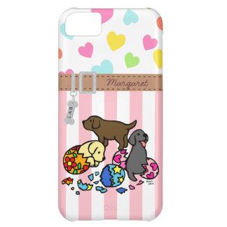 Perritos personalizados de Labrador de los huevos Funda Para iPhone 5C