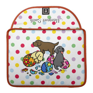 Perritos personalizados de Labrador de los huevos Fundas Macbook Pro