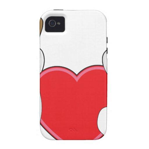 Perritos y corazón Case-Mate iPhone 4 fundas