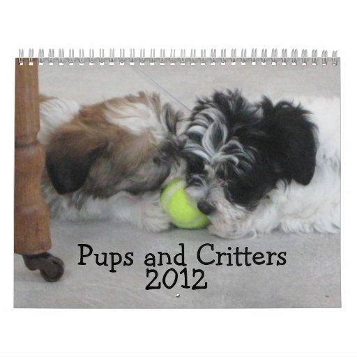 Perritos y Critters 2012 Calendarios