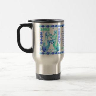 Perro 1982 de agua del zodiaco de ValxArt llevado  Tazas