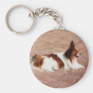 Perro #1 llavero redondo tipo pin