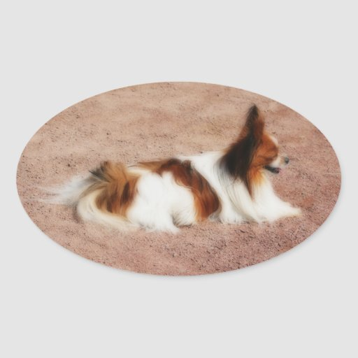 Perro #1 pegatinas ovales
