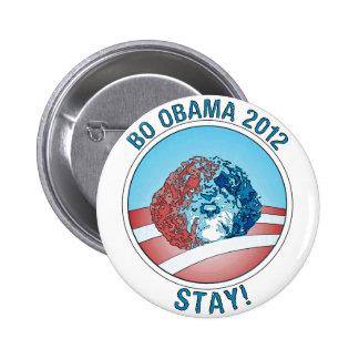 Perro 2012 de Favorable-BO Obama Pin Redondo 5 Cm