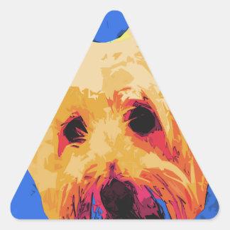 Perro 2 - Canículas del verano Calcomania De Triangulo