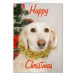 Perro 2 del navidad tarjeta de felicitación