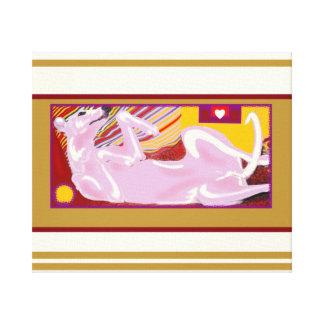 Perro 44 de Picasso Whippet Impresión En Lienzo