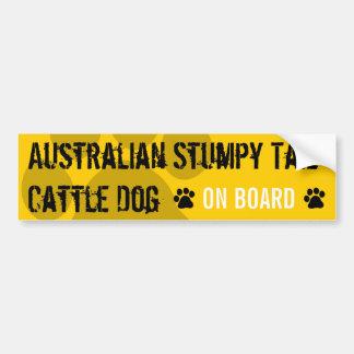 Perro achaparrado australiano del ganado de la col pegatina de parachoque