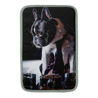 Perro aficionado del fotógrafo del dogo francés fundas macbook air