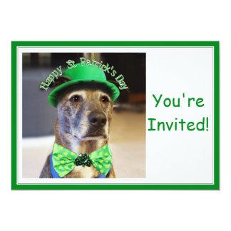 Perro afortunado del día de St Patrick Comunicado Personalizado