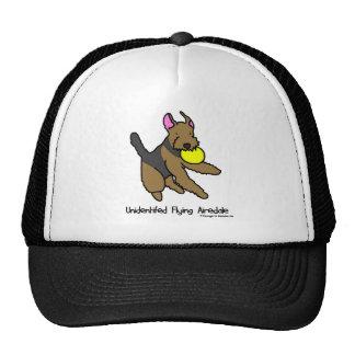 Perro Airedale Terrier del disco Gorro