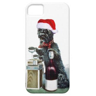 Perro alegre del acebo iPhone 5 fundas