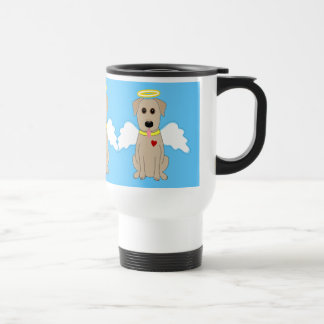 Perro amarillo del ángel del laboratorio taza de café