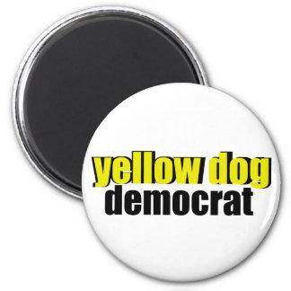 Perro amarillo Demócrata Imán Redondo 5 Cm