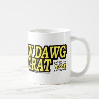 Perro amarillo Demócrata Taza