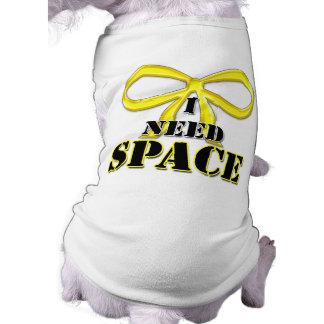 Perro amarillo necesito la camisa del espacio playera sin mangas para perro