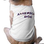 Perro americano camisetas de perro