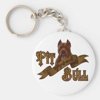 Perro americano de Terrier de pitbull Llavero Redondo Tipo Pin