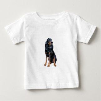 Perro americano del Coon - negro y moreno Poleras