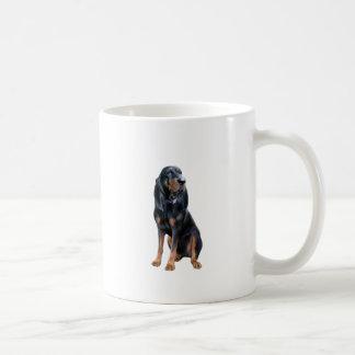 Perro americano del Coon - negro y moreno Taza Clásica