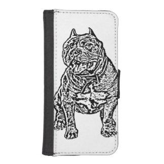 Perro americano del matón fundas tipo cartera para iPhone 5
