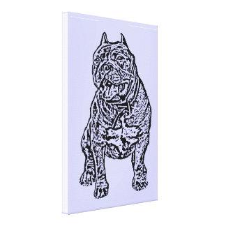 Perro americano del matón lienzo envuelto para galerias
