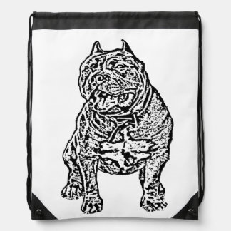 Perro americano del matón mochila