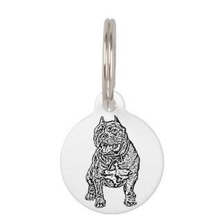Perro americano del matón placa para mascotas