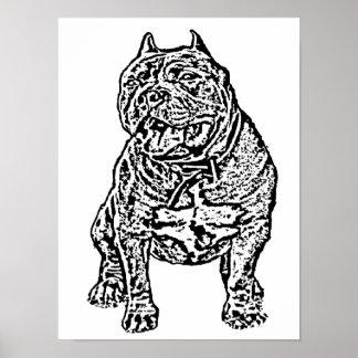 Perro americano del matón póster