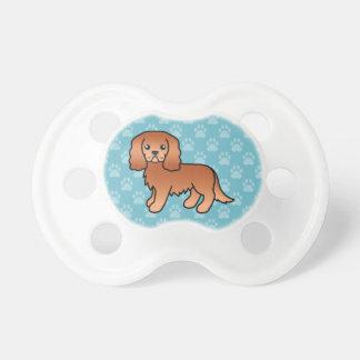 Perro arrogante de rubíes del perro de aguas de chupetes de bebé