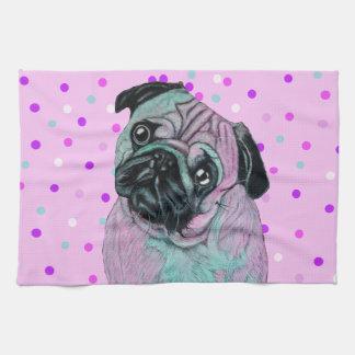 Perro artístico del barro amasado toalla de cocina