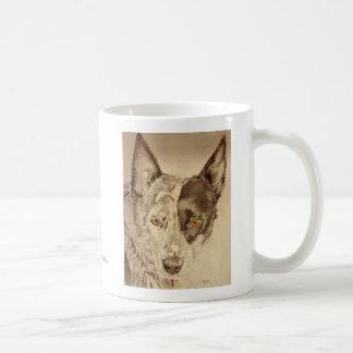 Perro australiano azul del ganado de Heeler Tazas De Café