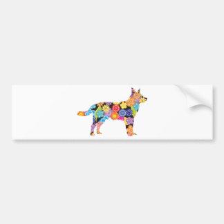 Perro australiano del ganado etiqueta de parachoque