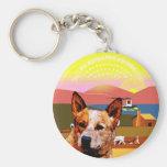 Perro australiano del ganado de Kansas Llavero Personalizado