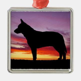Perro australiano del ganado ornamentos de navidad