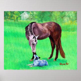 Perro australiano del ganado del caballo cuarto de impresiones
