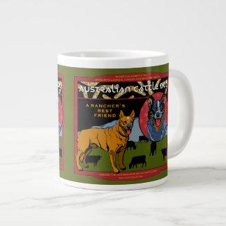 Perro australiano del ganado - el mejor amigo de taza de café grande