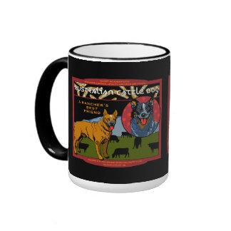 Perro australiano del ganado - el mejor amigo de u taza a dos colores