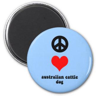 perro australiano del ganado imán redondo 5 cm