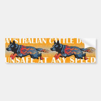 Perro australiano del ganado - inseguro a cualquie pegatina de parachoque