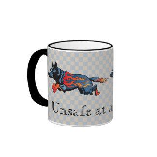 Perro australiano del ganado - inseguro a cualquie taza
