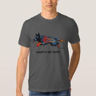 Perro australiano del ganado - inseguro a polera